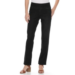 Women's Dana Buchman Pull-On Straight-Leg Jeans